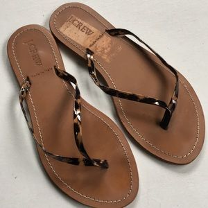 EUC J. Crew leather sandals